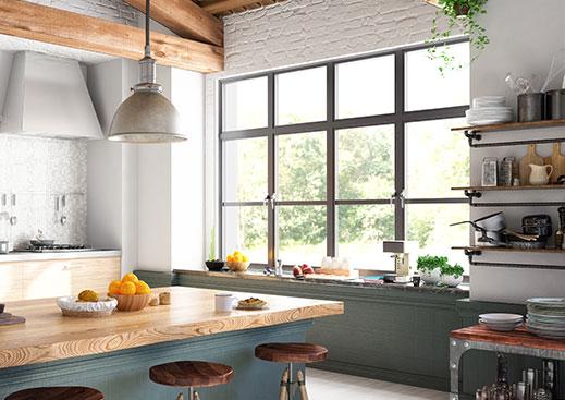 Sheerline Kichen aluminium windows Large
